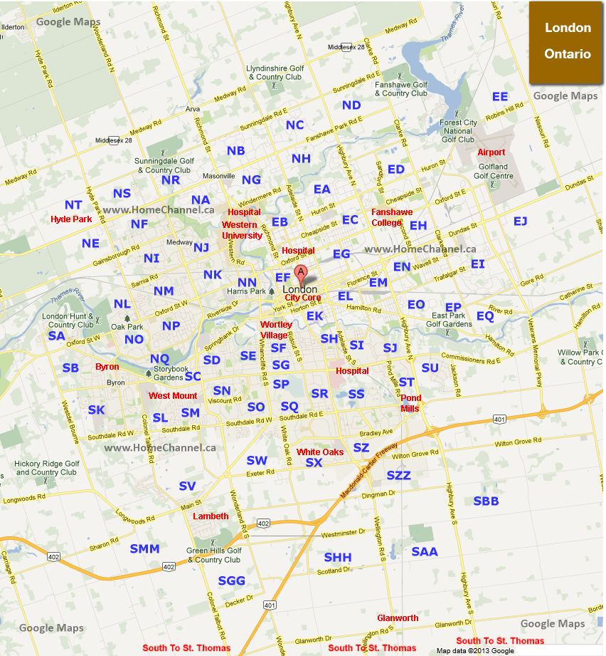 London Ontario Map